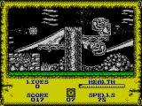 Wizard Willy ZX Spectrum This is Game Over. Waiting too long meant these two nasties took Willy's last remaining stamina.