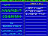 NATO Assault Course ZX Spectrum The main menu