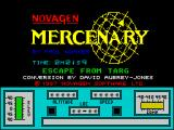 Mercenary ZX Spectrum The game's title screen. A countdown timer shows how much load time remains