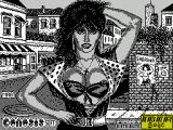 Sabrina ZX Spectrum This screen comes up first and a distorted voice seems to say 'Genesis soft presents Sabrina' three times while the picture mimes, badly. Then the game load continues
