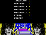 Sabrina ZX Spectrum The action keys can be redefined. Sabrina has three actions, she can hit, kick, or poke her chest at people