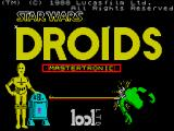 Star Wars: Droids ZX Spectrum This screen displays as the game loads