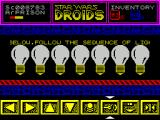 Star Wars: Droids ZX Spectrum keys 1-7 activate lights 1-7. The game flashes 4 random sets of lights and the player must repeat the sequence