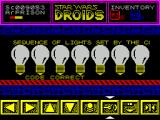 Star Wars: Droids ZX Spectrum Enabling sound is recommended here because the same note can be played twice in succession. The puzzle can be repeated as often as necessary
