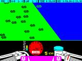 TT Racer ZX Spectrum This is a crash. The border around the screen flashes different colours as mud/gravel is thrown into the players face