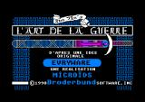 The Ancient Art of War Amstrad CPC French version title screen