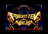 Forgotten Worlds Amstrad CPC Title screen.