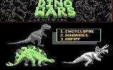 Dino Wars Commodore 64 Main menu