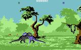 Dino Wars Commodore 64 Fight between to t-rexes