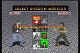 Shadow: War of Succession 3DO Character select.