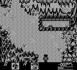 James Bond 007 Game Boy Caves inside the mountains, note the hidden soldier