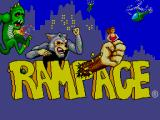 Rampage SEGA Master System Title Screen