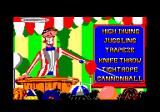 Fiendish Freddy's Big Top O' Fun Amstrad CPC Select what you will practice at.