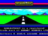 Scalextric: The Computer Edition ZX Spectrum The game's title screen