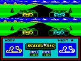 Scalextric: The Computer Edition ZX Spectrum Both cars naturally have the same acceleration and are level up to the first bend when one or other has the advantage of being on the inside