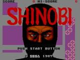 Shinobi SEGA Master System Title Screen