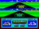 Slot Car Racer ZX Spectrum About half a second further down the track the game shows the current lap time.