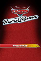 Disney•Pixar Cars: Race-O-Rama Nintendo DS Title screen.