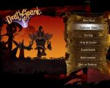 Main Menu - Featuring an animated running Deathspank on the left.