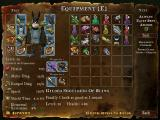 DeathSpank Windows Equipment Screen - Also features the character sheet information and weapon/armor specific inventory screen, as well as quick slot access for potions and food may also be equipped here.