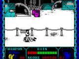 Shanghai Warriors ZX Spectrum When a bad guy is down the body flashes a few times before disappearing from the screen. The player cannot leave this screen until the full quota of bad guys has been neutralised