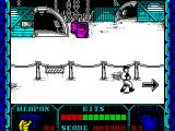 Shanghai Warriors ZX Spectrum The player knows when all bad guys have been neutralised because a flashing arrow directs them to the next screen
