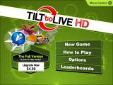 Tilt to Live iPad Title / main menu (lite version)