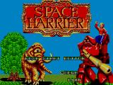 Space Harrier SEGA Master System Title Screen