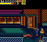 Streets of Rage 2 Game Gear Blaze Down