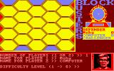 Blockbusters Amstrad CPC The game's configuration screen. Here its a one player game against the computer