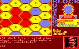 Blockbusters Amstrad CPC While waiting for an answer the target cell alternates between the players colour and their opponents