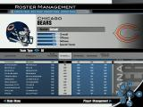 Madden NFL 2004 Windows Team rosters are viewable through the Roster Management screen.