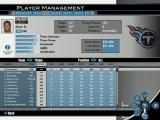 Madden NFL 2004 Windows Viewing the Titans' 2003-04 season roster in the Player Management screen, where players can be edited.