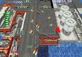 RayStorm SEGA Saturn An army of tanks welcomes our return from the sea.