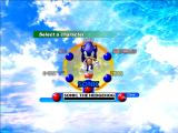 Sonic Adventure DX (Director's Cut) Windows Character selection