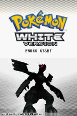 Pokémon White Version Nintendo DS Title screen.