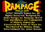 Rampage World Tour SEGA Saturn Title