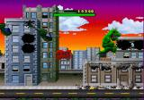 Rampage World Tour SEGA Saturn Clinging to a building, about to tear it down