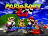 Mario Kart 64 Nintendo 64 Title Screen