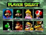 Mario Kart 64 Nintendo 64 Player Select Screen