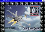 F-18: No Fly Zone Windows 3.x This is the game's title screen. There are few obvious options available from this screen, however pressing the function keys gives access to the game configuration screens and other options