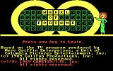 Wheel of Fortune: Golden Edition DOS Title screen
