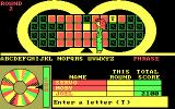 Wheel of Fortune: Golden Edition DOS A letter is uncovered