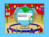 Yearn2Learn: Master Snoopy's World Geography Windows 3.x I was surprised when the Falkland Islands came up as question 1. Snoopy's already in the cannon and is ready to go