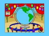Yearn2Learn: Master Snoopy's World Geography Windows 3.x With the correct country located the flag is hung up at the top of the screen