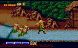 Golden Axe Amiga Villagers running for their lives