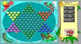 Chinese Checkers DOS starting game with four players