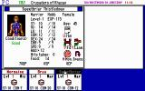Tunnels & Trolls: Crusaders of Khazan DOS The character status screen shows a portrait, stats, and lets you view their inventory and equipment