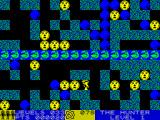 Rockford: The Arcade Game ZX Spectrum The coins flash yellow / blue during the game. There is a countdown timer at the bottom of the screen in the centre