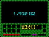 Enlightenment ZX Spectrum Key redefinition takes place in the tiny window using a font that is really hard to understand